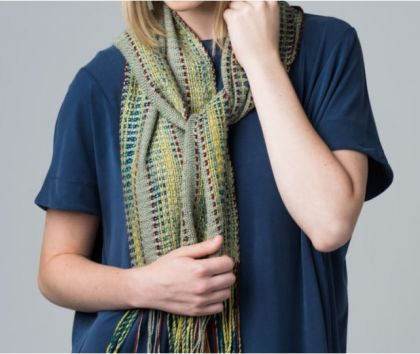 "Kit - Limited Edition ""Handwoven Loom Theory: Rigid-Heddle Scarf Collection"" Silk Scarf by Stepahnie Flynn Sokolov: click to enlarge"