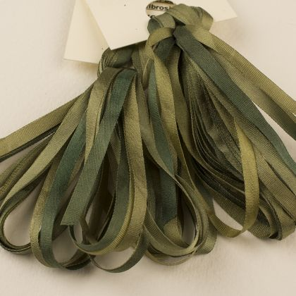65 Roses® 'Chive' -  3.5mm Silk Ribbon: click to enlarge