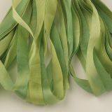 65 Roses® 'Spring Leaves II' -  7mm Silk Ribbon