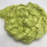 "Limited Edition ""Apple Green"" - Hand-dyed Tussah Roving/Sliver 25g"