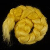 "Limited Edition ""Golden Aspen"" - Hand-dyed Tussah Roving/Sliver 25g"