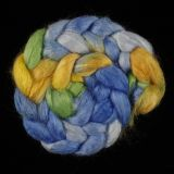 Salt Spring Island Limited Edition 'Sunflower & Sky' - Tussah Silk Roving/Sliver 25g