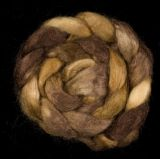 Salt Spring Island 'Walnut Woods' - Tussah Silk Roving/Sliver 25g