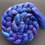 Salt Spring Island Limited Edition 'Lupines in Bloom' - Tussah Silk Roving/Sliver 25g