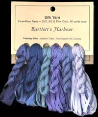 Canadiana Series – Bartlett's Harbour: Winter Solstice 3, French Blue 955, Periwinkle 956, Glacier 214, Danish Blue 206, Rendezvous Blue 4