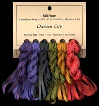 Canadiana Series – Dawson City: Carousel 13, Amber 9514, Pheasant Green 952, Irish Rover 954, Blueberry Haze 2, Purple Rain 49