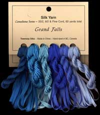 Canadiana Series – Grand Falls: Ice Poppy 8, Bachelor's Button 7, Lapis Lazuli 6, Sea Spray 16, Turkish Bath 19, Dragonfly 18