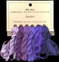 Canadiana Series – Iqaluit: Persian Night 220, Silk Pyjamas 219, Love–in–a–Mist 218, Amethyst 52, Jubilee 51, Orchid 53