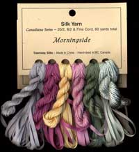 Canadiana Series – Morningside: Pistachio 41, Winter Sage 40, Cherry Blossom 47, Narcissus 38, Peony 46, River Stone 56