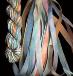 montano series fine cord silk thread and 3.5mm silk ribbon in athens