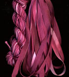 montano series fine cord silk thread and 3.5mm silk ribbon in berry