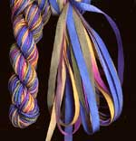 montano series fine cord silk thread and 3.5mm silk ribbon in cottge garden