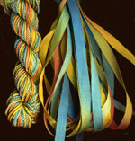 montano series fine cord silk thread and 3.5mm silk ribbon in gold coast