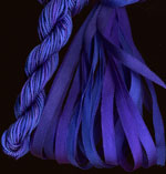 montano series fine cord silk thread and 3.5mm silk ribbon in iris