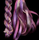 montano series fine cord silk thread and 3.5mm silk ribbon in loch lomond