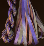 montano series fine cord silk thread and 3.5mm silk ribbon in provence