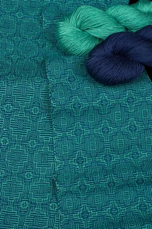 Treenway Silks Tidal Pool color, woven scarf
