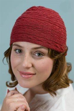 Red hat in silk yarn